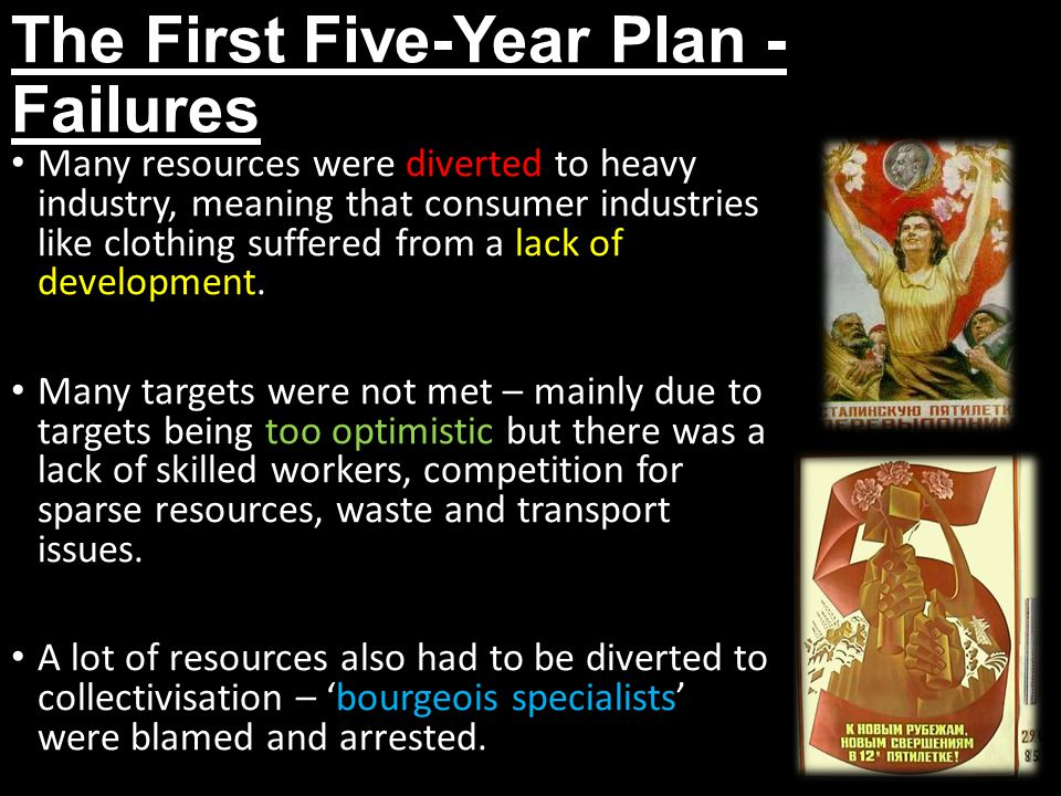 The First Five-Year Plan - Failures