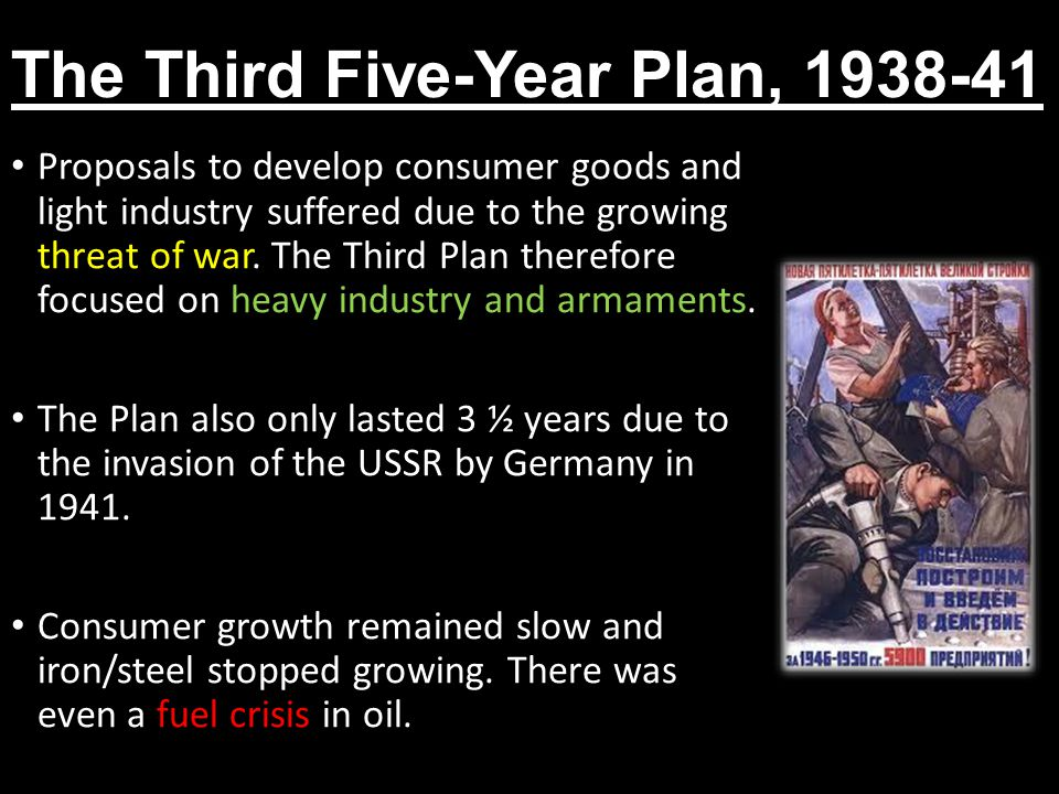 The Third Five-Year Plan, 1938-41