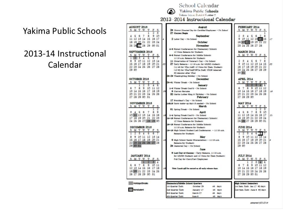 2013-14 Instructional Calendar