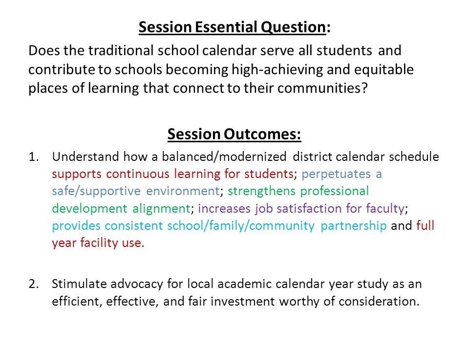 Session Essential Question: