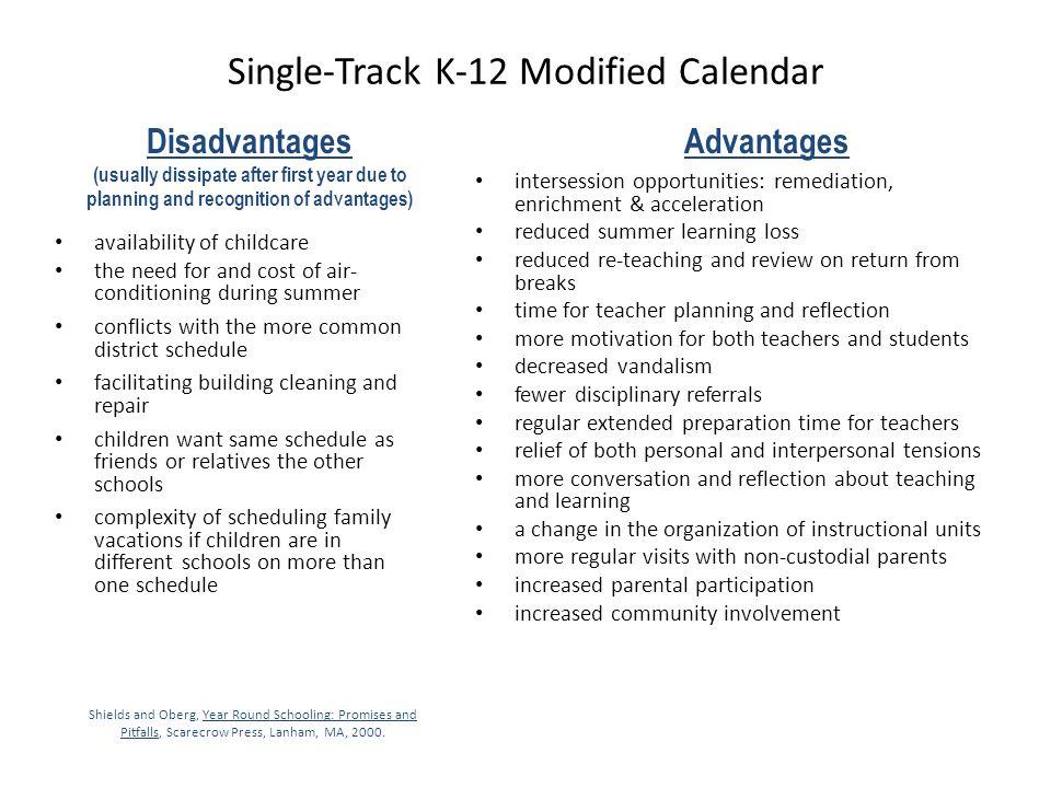 Single-Track K-12 Modified Calendar