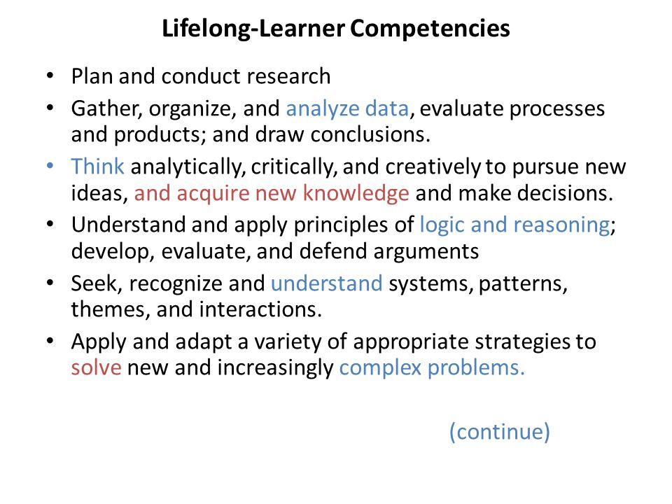 Lifelong-Learner Competencies