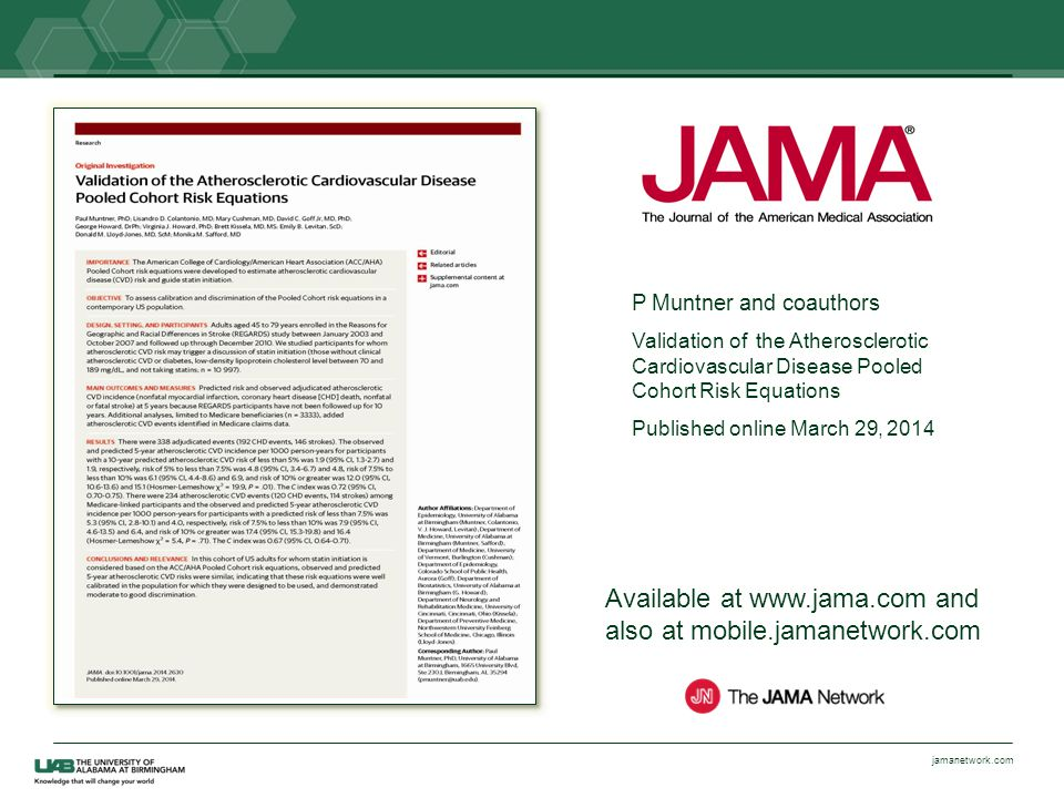 Available at www.jama.com and also at mobile.jamanetwork.com