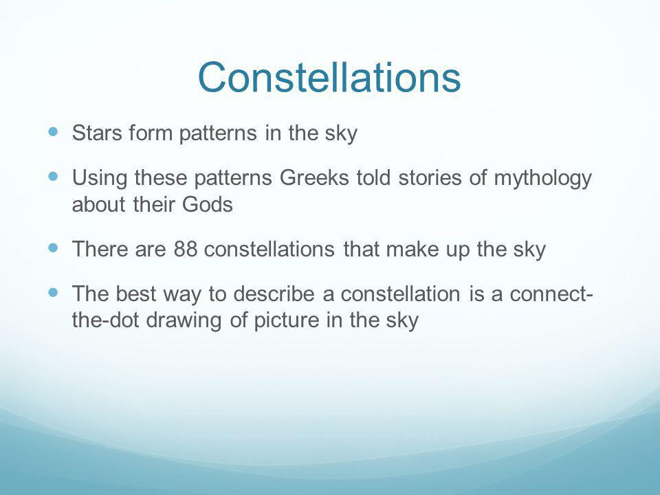 Constellations Stars form patterns in the sky