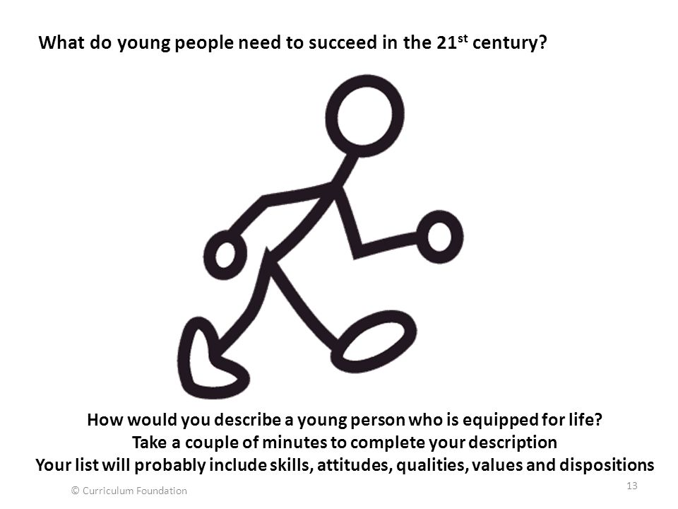 What do young people need to succeed in the 21st century