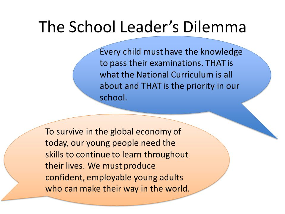 The School Leader's Dilemma