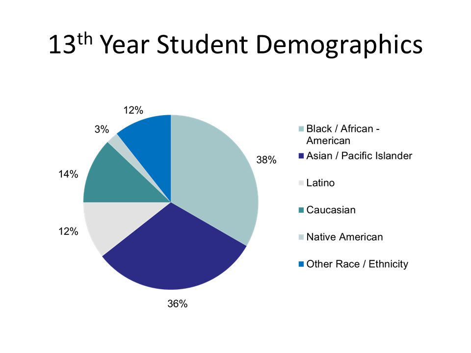 13th Year Student Demographics