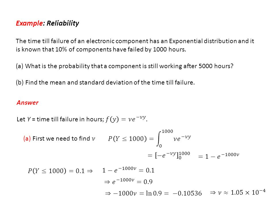 Example: Reliability