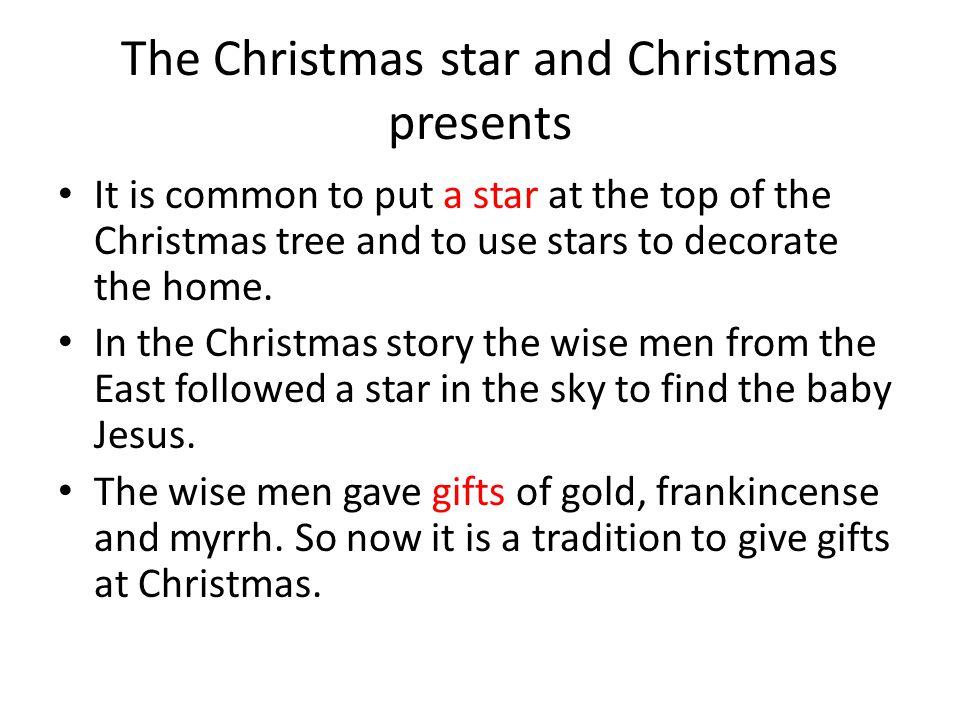 The Christmas star and Christmas presents