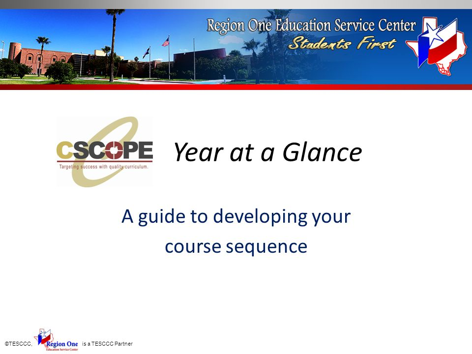 A guide to developing your course sequence