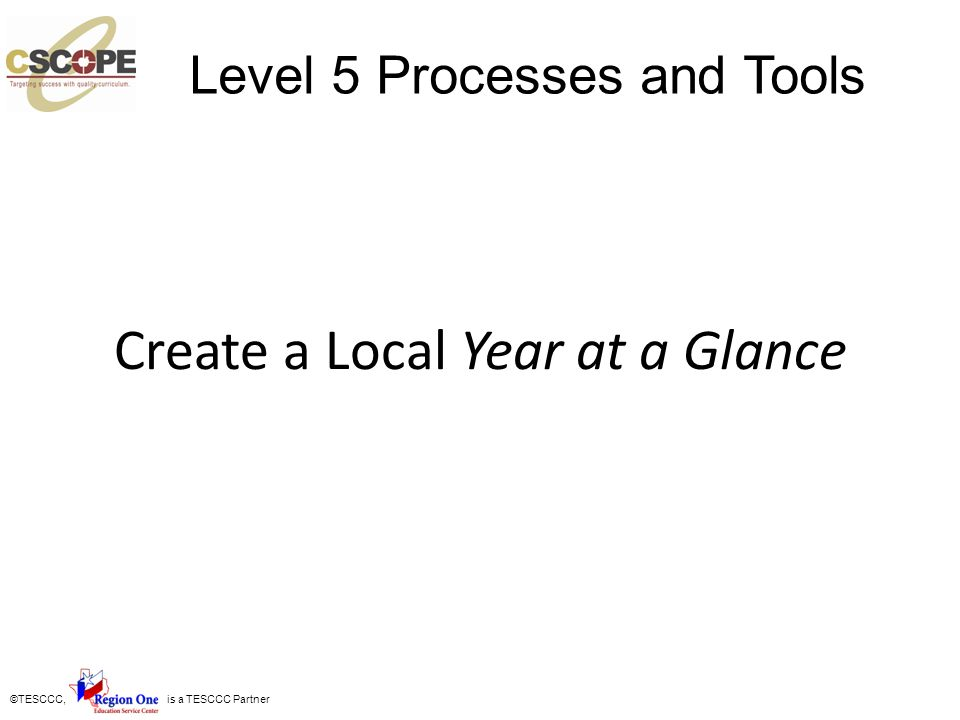Create a Local Year at a Glance