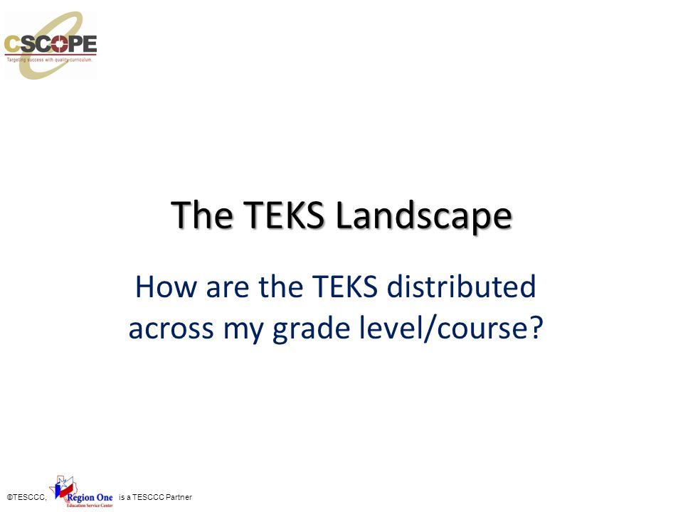 How are the TEKS distributed across my grade level/course