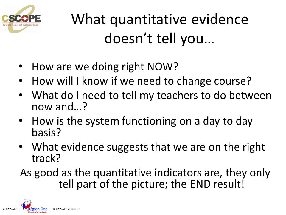 What quantitative evidence doesn't tell you…