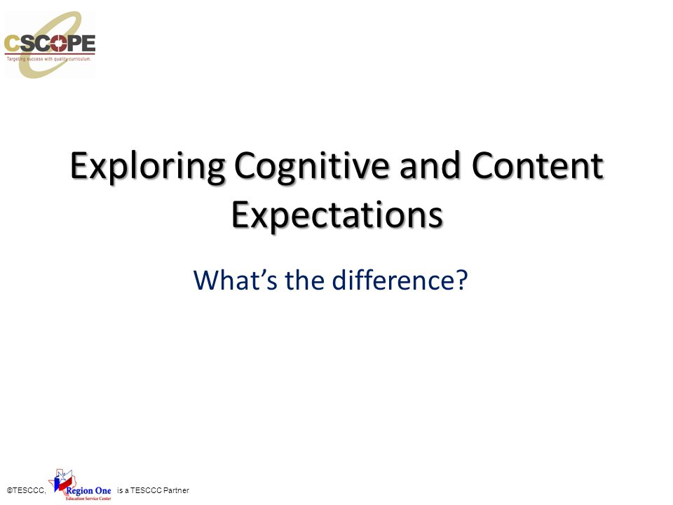 Exploring Cognitive and Content Expectations