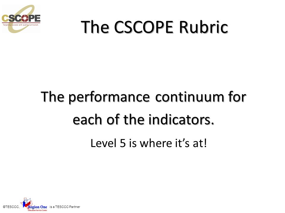 The performance continuum for