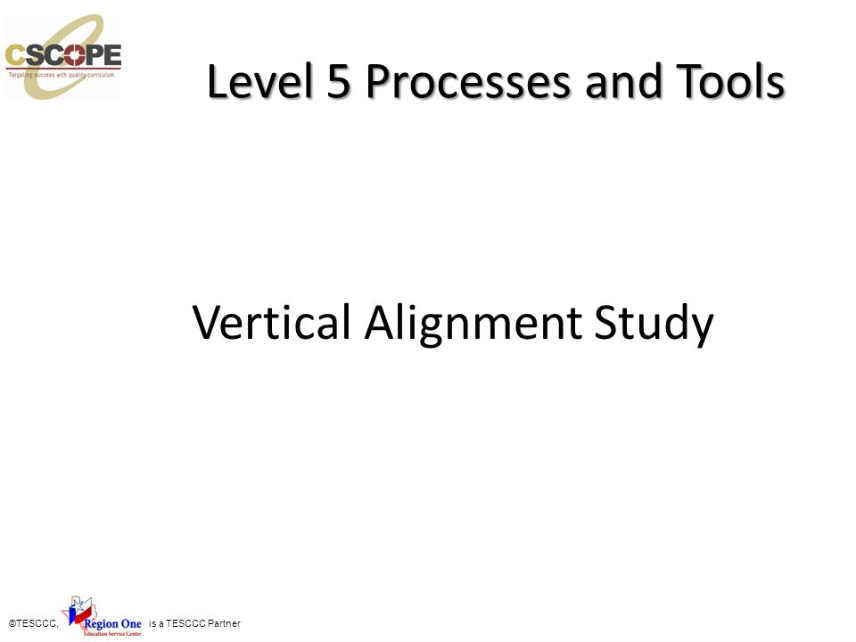 Level 5 Processes and Tools