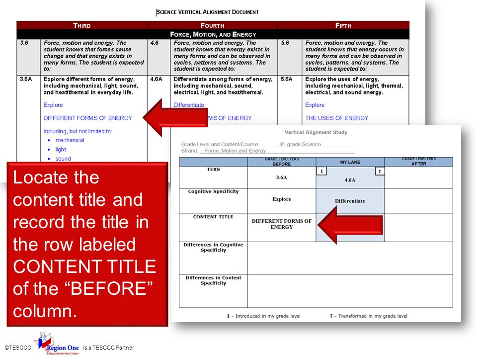 Locate the content title and record the title in the row labeled CONTENT TITLE of the BEFORE column.