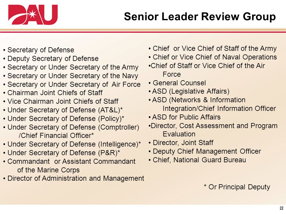Senior Leader Review Group