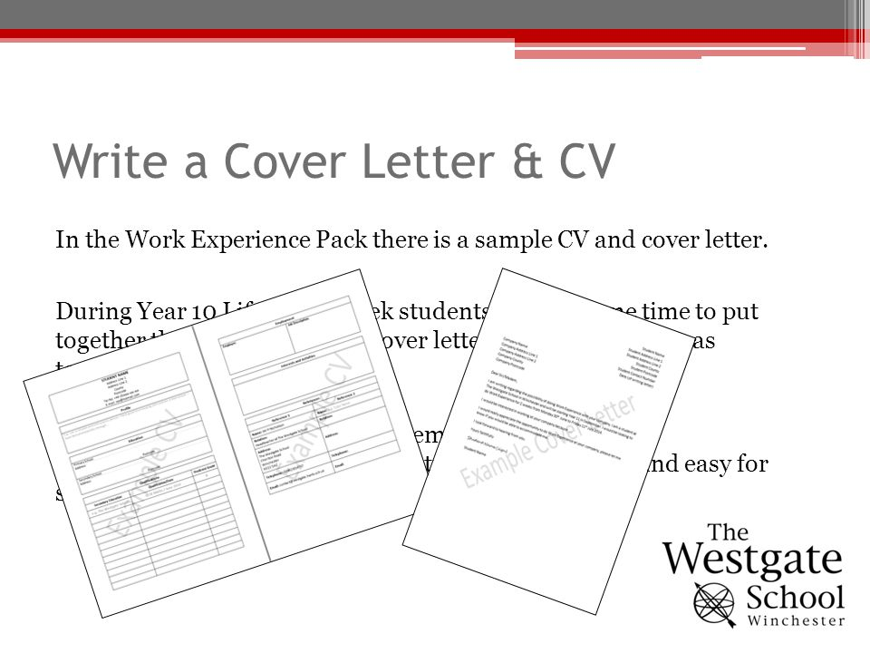 writing a cv for year 10 work experience