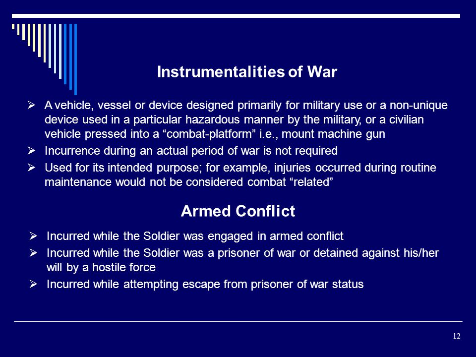 Instrumentalities of War