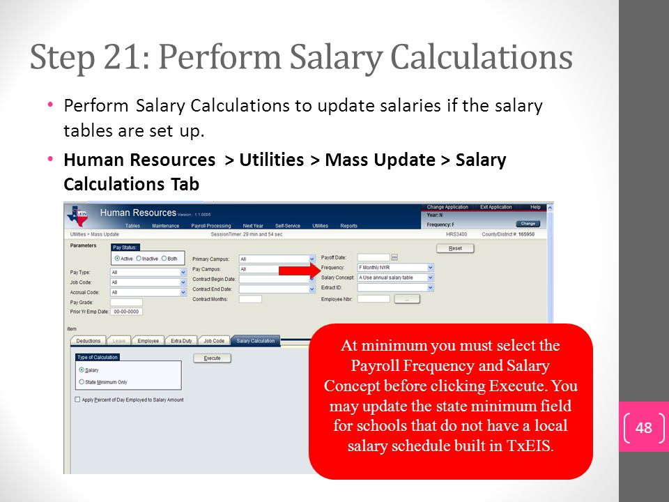 Step 21: Perform Salary Calculations