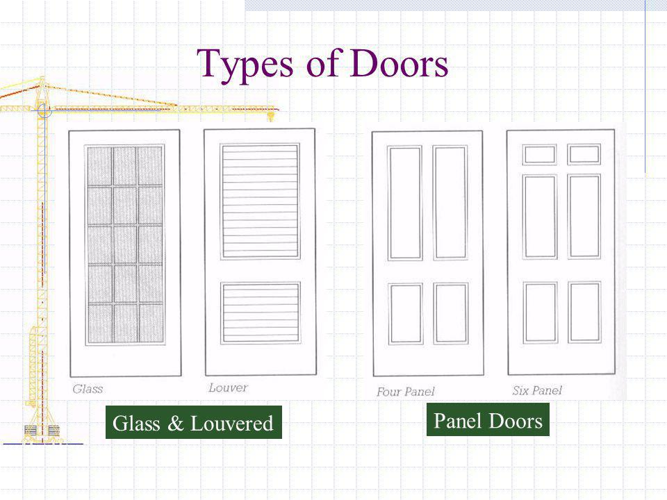 Types of Doors Glass & Louvered Panel Doors