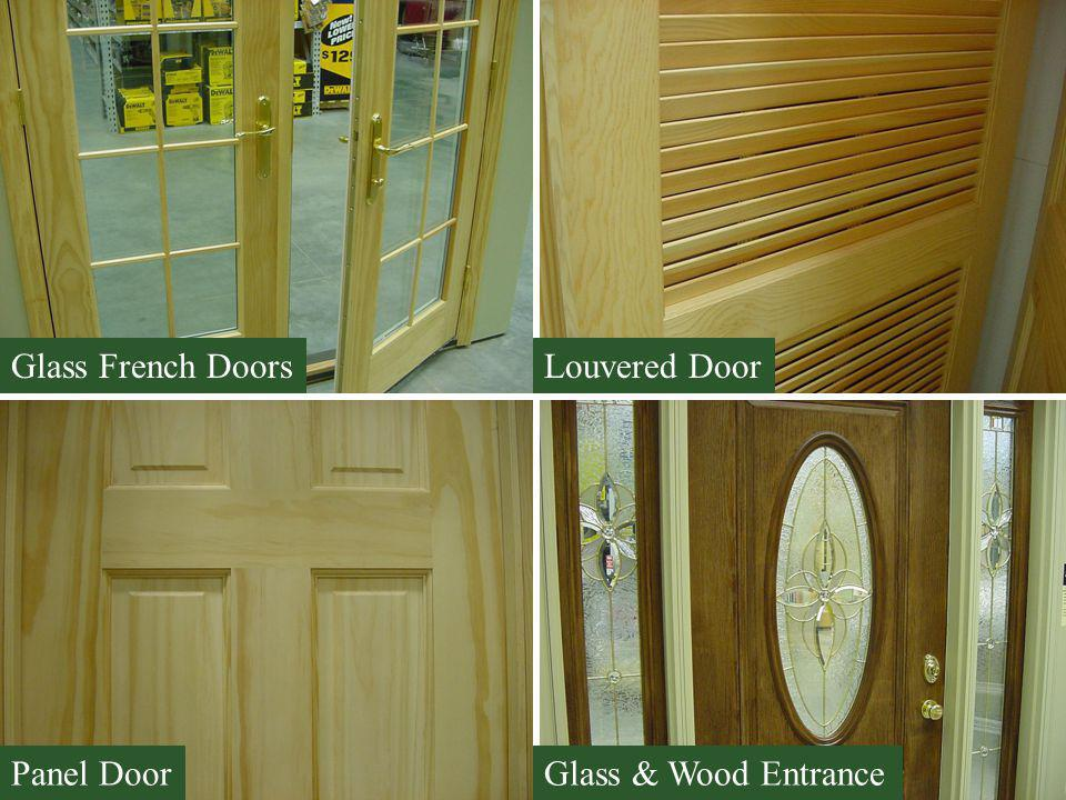 Glass French Doors Louvered Door Panel Door Glass & Wood Entrance