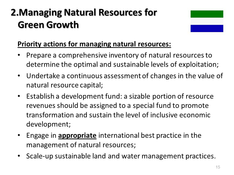 2.Managing Natural Resources for Green Growth