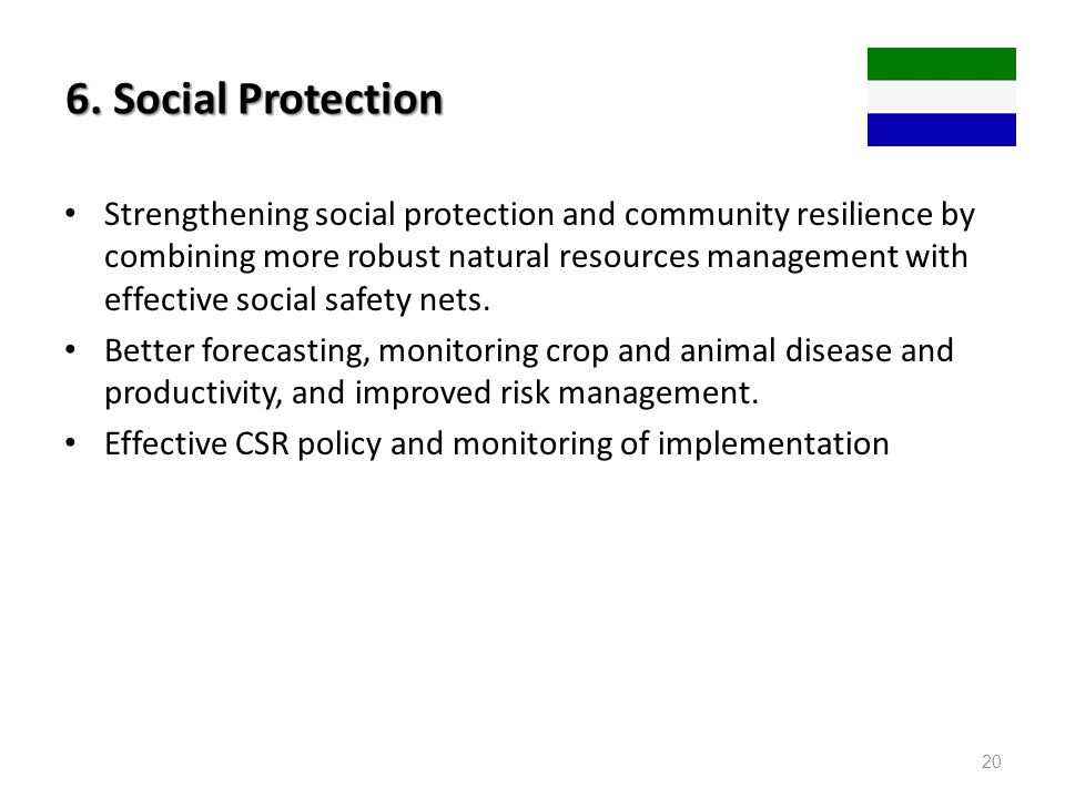6. Social Protection