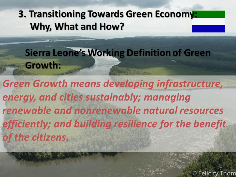Sierra Leone's Working Definition of Green Growth: