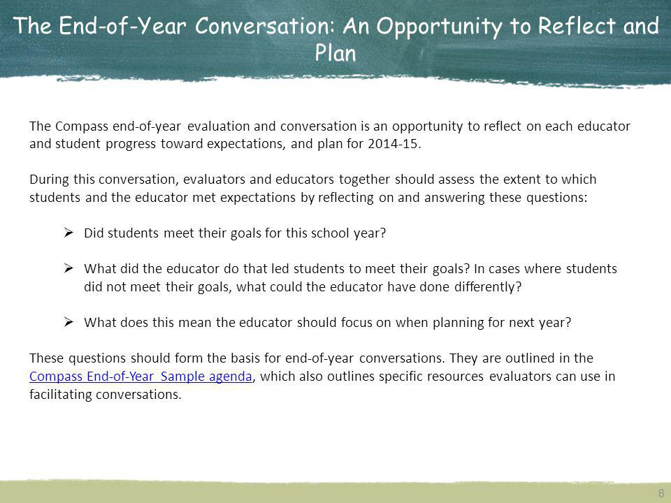 The End-of-Year Conversation: An Opportunity to Reflect and Plan