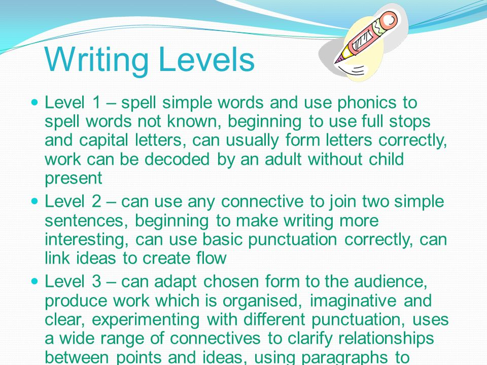 Writing Levels