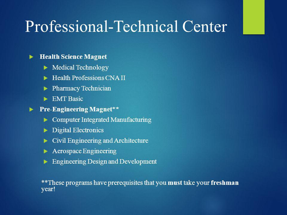 Professional-Technical Center