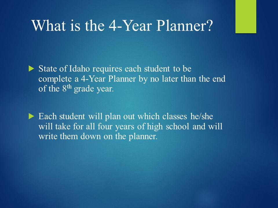 What is the 4-Year Planner