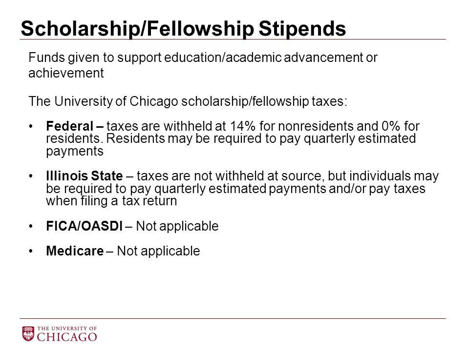 Scholarship/Fellowship Stipends