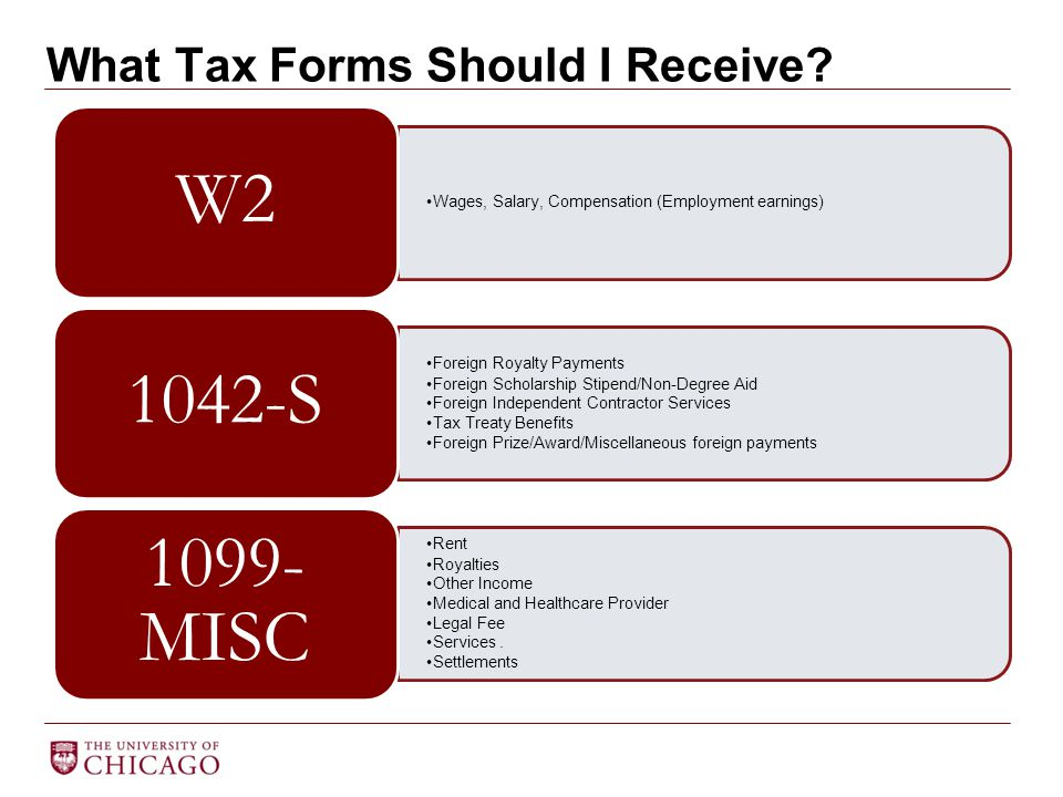What Tax Forms Should I Receive