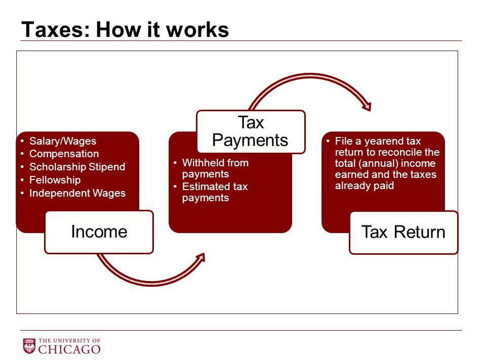 Taxes: How it works Tax Payments Income Tax Return Salary/Wages