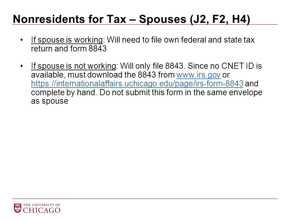 Nonresidents for Tax – Spouses (J2, F2, H4)