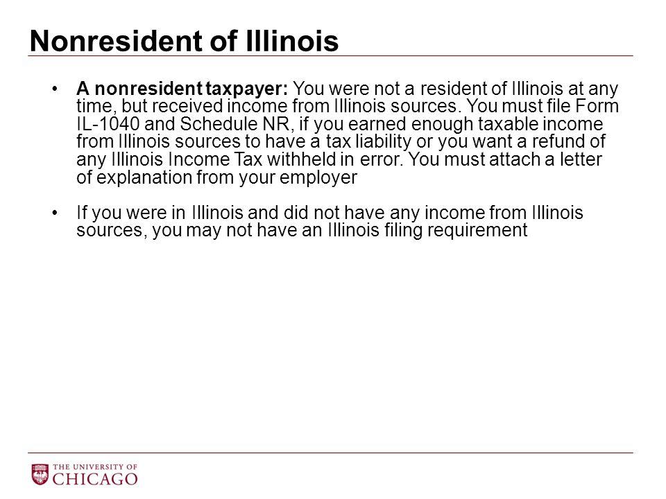 Nonresident of Illinois