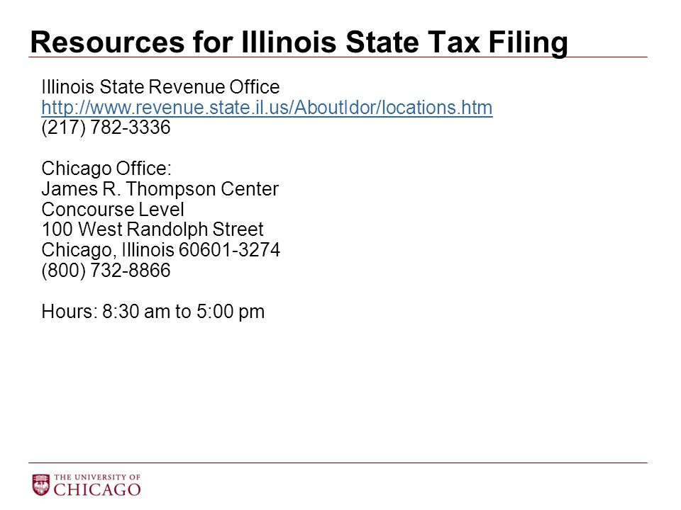 Resources for Illinois State Tax Filing