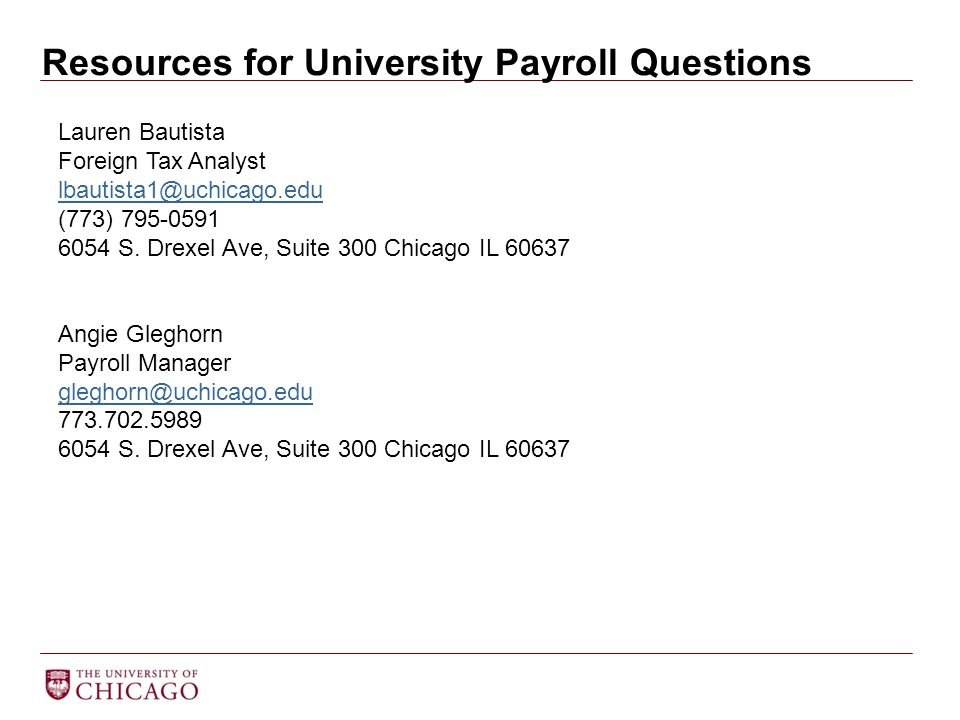 Resources for University Payroll Questions