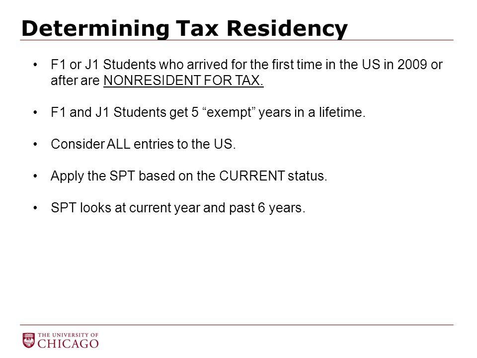 Determining Tax Residency