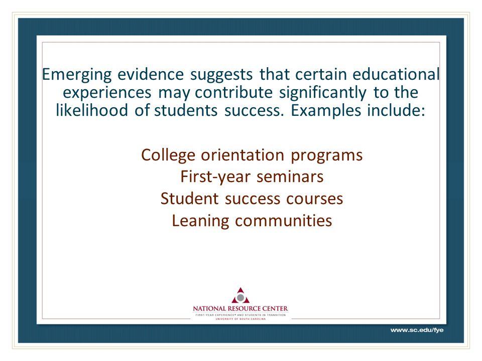 College orientation programs First-year seminars