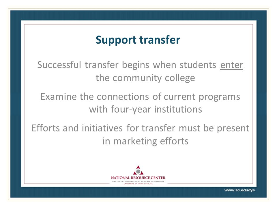 Support transfer