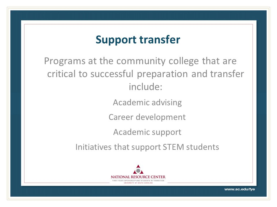 Initiatives that support STEM students