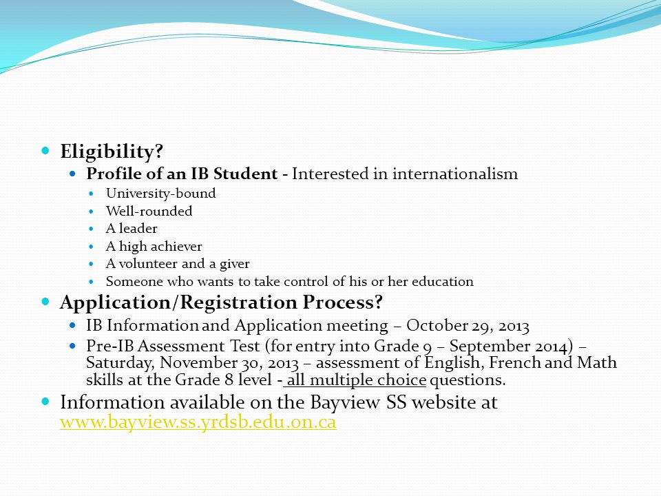 Application/Registration Process