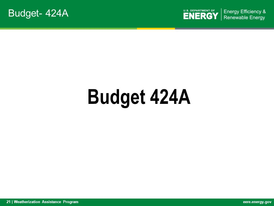 Budget- 424A Budget 424A