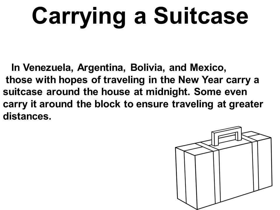 Carrying a Suitcase In Venezuela, Argentina, Bolivia, and Mexico,
