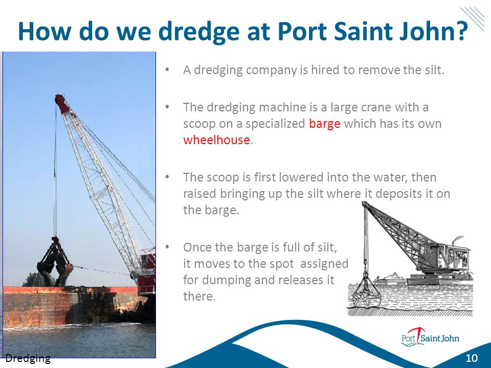 How do we dredge at Port Saint John