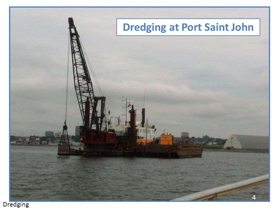 Dredging at Port Saint John